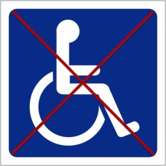 Logo mentionnant qu'il n'y a pas d'accès PMR